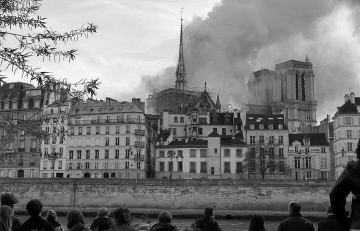 The view a Twin Cities man had of the fire that engulfed Notre Dame Cathedral in Paris.