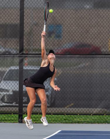 Sophomore Claire Wood competes during sectionals Oct. 10