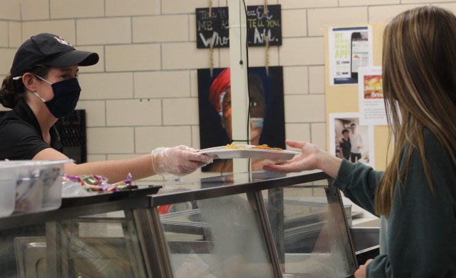 Students may receive free meals through Dec. 31, according to the United States Department of Agriculture [USDA]. In addition to free meals, breakfast and lunch are also served differently due to the COVID-19 pandemic
